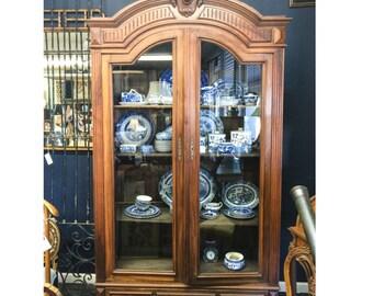 Antique Glass Door Armoire