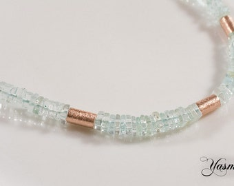 Topaz dream necklace rose gold plated