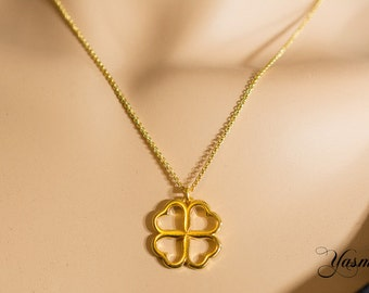 Gold-plated heart - leaf clover