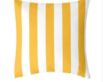 Yellow Pillow Cover, Yellow Throw Pillow, Decorative Throw Pillow, Hidden Zipper Pillow, Canopy Corn Yellow Pillow, Striped Pillow Cover