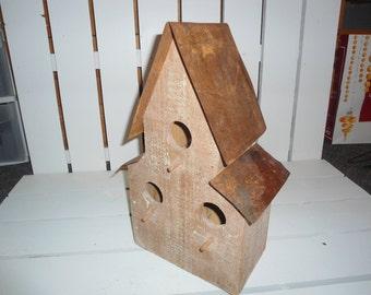 Rustic Ranch Birdhouse, Cabin birdhouse, Western birdhouse, antique copper roof, Old birdhouse, Vintage birdhouse, Barn Bird House