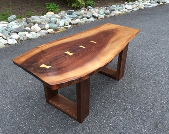 SOLD - Live Edge Black Walnut Coffee Table