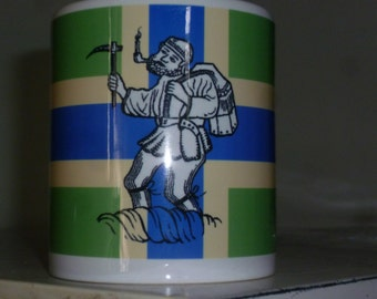 Forest Dean Mug Gloucestershire Freeminer Severn Cross Flag Custom DyeSub  England Gift Souvenir Promotional Forest of Dean