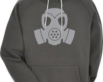 Cyberpunk Gas Mask Hoodie Hooded Sweatshirt Dieselpunk Post Apocalypse Fallout