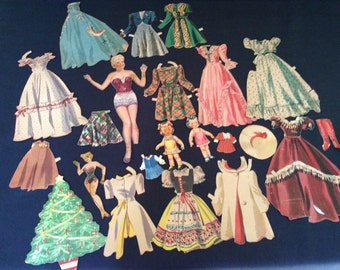 Vintage Paper Dolls and Clothes