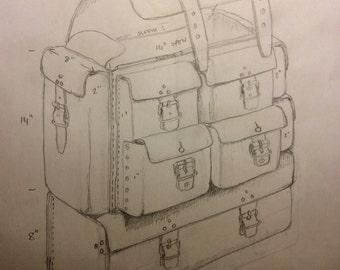 Custom Leather Backpack