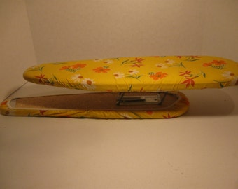 Vintage Welmaid Travel and Folding Sleeve Board  Ironing Board  Yellow  Original Pad  Two Board Sizes in One Unit