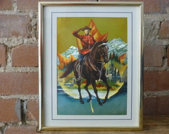 Metal Etched Art - Canadian Royal Mounted Police