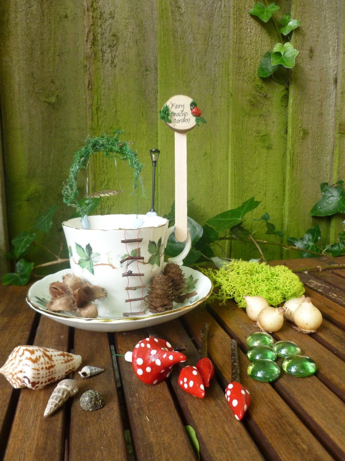 Create your own fairy garden in a teacup kit by for Design your own garden