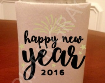 New Year's Eve Can Cooler, new years, new years eve decoration, happy new year