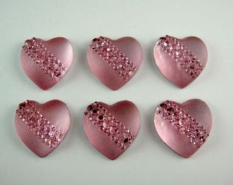 5 Lt. Pink Heart Twist Hair Coils Any Occasion, 20mm Wedding Party, Bride, Cheer, Proms or Any Special Event
