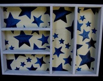 SALE! - Emma Bridgewater - Starry Skies - Vintage Shelves - Vintage Shelf - Bridgewater Pottery - Starry Skies Print - Printers Tray