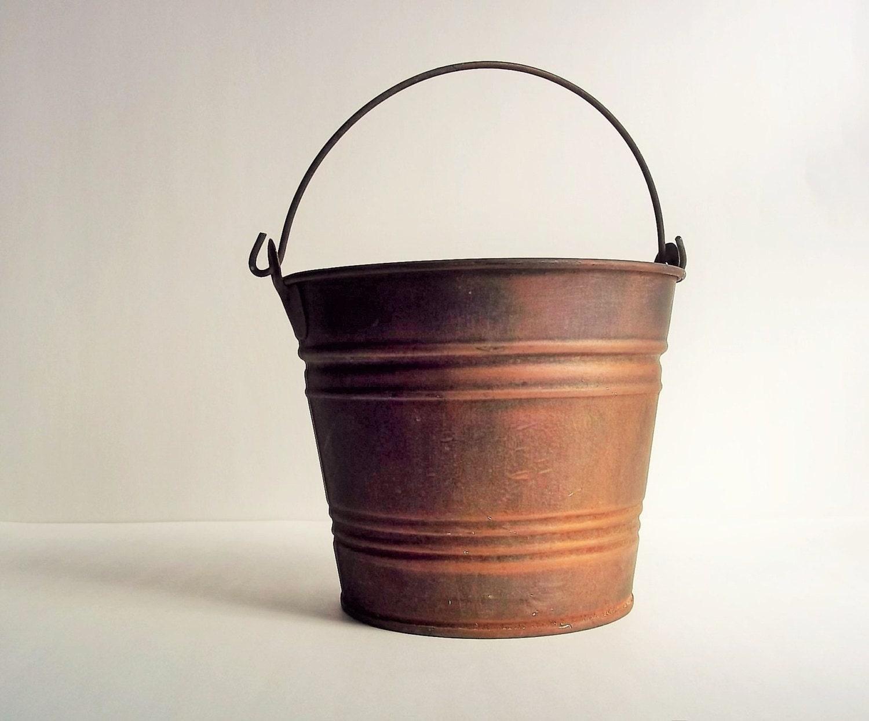 Metal bucket old rusty bucket pail antique bucket no 5 for Old metal buckets