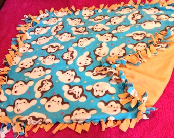 No Sew Tie Monkey Blanket