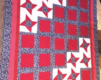 QUILT TOP:  Simple Red, White & Blue