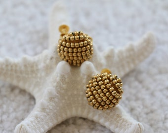 Vintage Gold Tone Screw Back and Clip On Earrings by Napier