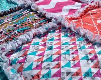 Aztec Print rag quilt