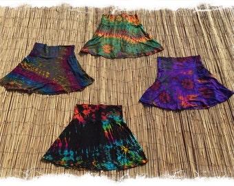 Hibiscus Mini: Batik tie-dye mini-skirt