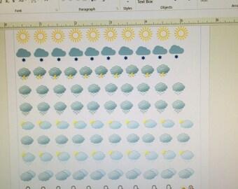 Mini weather icons