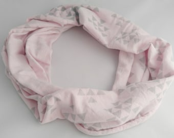 Pink Scarf, Spring Scarf, Lightweight Scarf, Eternity Scarf, Jersey Infinity, Women's Scarf, Girlfriend Gifts, Fashion Scarf, Soft Scarf