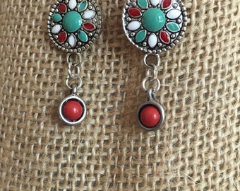 Southwestern silver earrings