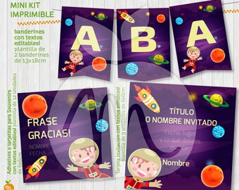 Lovely Stars and Planet spacial adventure in this Printable Kit with edtible Texts for your party!! INSTANT DOWNLOAD