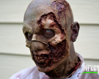 "Zombie Full Face Prosthetic ""UNPAINTED"""