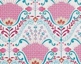 Little Azalea Hyacinth Pink by Dena Designs for Free Spirit By the 1 yard 100% cotton