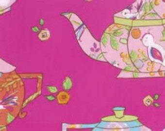 Twiddlywinks Teatime Pink by Dena Designs for Free Spirit By the 1 yard 100% cotton
