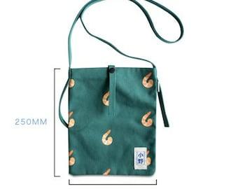 Canvas Cross Shoulder Bag -Ono Shrimp