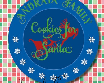 Cookies for Santa, Christmas, Plate, SVG, DFX, PNG, Eps, for Cricut, Silhouette, Cameo, Vinyl, Cutting File, Family, Gift