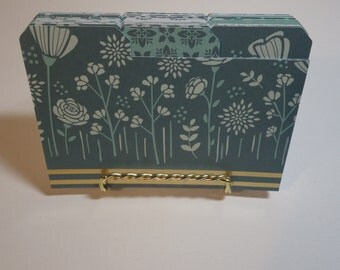 Recipe Card Dividers - Index Card Dividers - 60 Piece Set - 3.5 X 5 - Sweet Mint Paper Stack