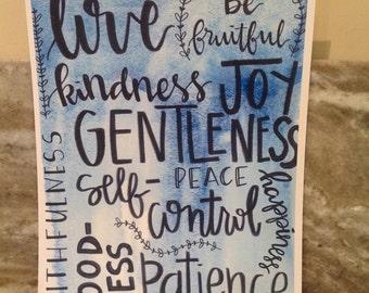 Patience, Love, Self Control, Kindness, Gentleness Print