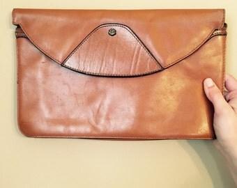John Romain Leather Clutch