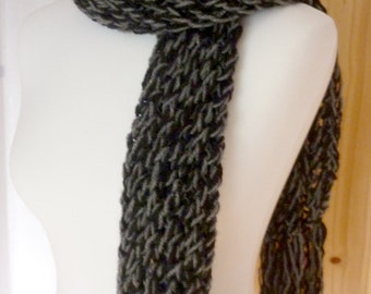 Black and grey mix scarf