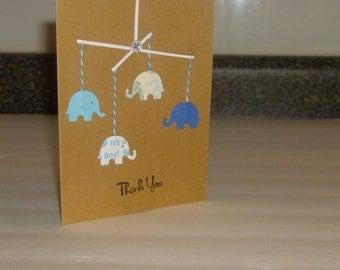 elephant thank you baby cards baby boy baby shower baby newborn