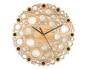 "Wall Clock - Bamboo - ""Circle Union"""
