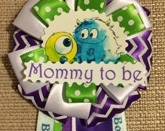 Baby Shower Corsage - Monsters Inc Inspired