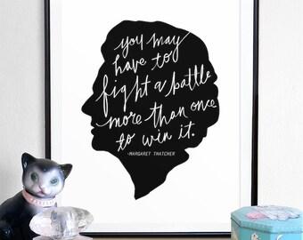 Margaret Thatcher Print, margaret thatcher art, quote poster, Print, Digital, printable art, digital print art, wall decor, digital print