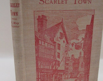 Vintage Book - Scarlet Town - Red and Bush Decorative Cover