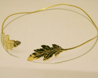 Gold Leaf Headband Crown , Hair accessories , Gold leaf headpiece Silver  Tiara with leaf