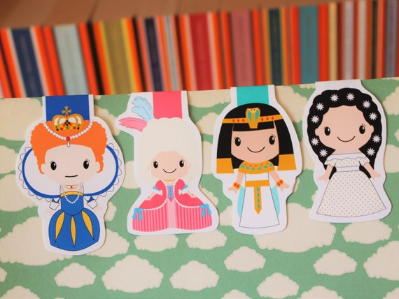 Queen Magnetic Bookmarks | Elizabeth I, Cleopatra, Sissi, Marie Antoinette