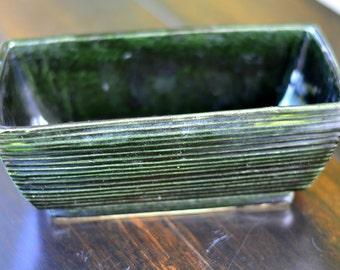 GARDEN CONTAINER, 1970s ceramic McCoy, Succulent container, planter, Zen garden, miniature Zen Garden