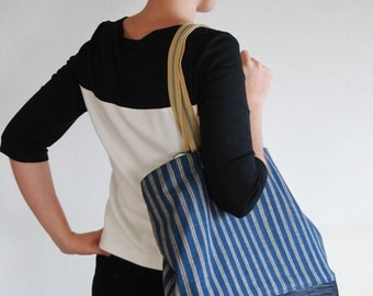 Tote bag made from handwoven cotton from Northern Thailand