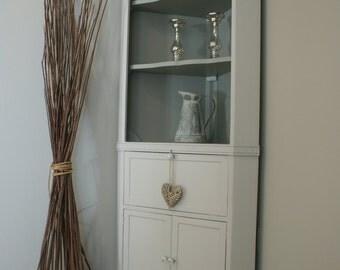Vintage Wooden Corner Cabinet