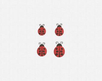 Ladybug Machine Embroidery Design - 4 Sizes