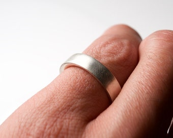 Silver Minimal Ring - Minimal Wedding Ring - Minimal Engagement Ring - Wide Silver Ring - Minimal Wedding Band - Thick Engagement Ring