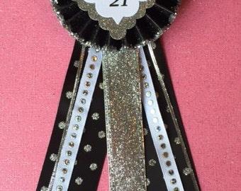 21st Birthday Corsage..21st Birthday..21st Birthday Pin..Birthday Pin.. Finally 21..Free Customization