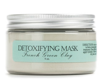 Detoxifying Green Clay Mask, Pore Minimizing Mask, Natural Clay Mask, French Green Clay Mask, Oily Skin Treatment, Clear Skin