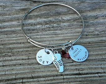Cross Country Running Charm Bracelet - Personalized